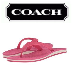 5a3b238fe45ca Coach Dahlia Flip Flops